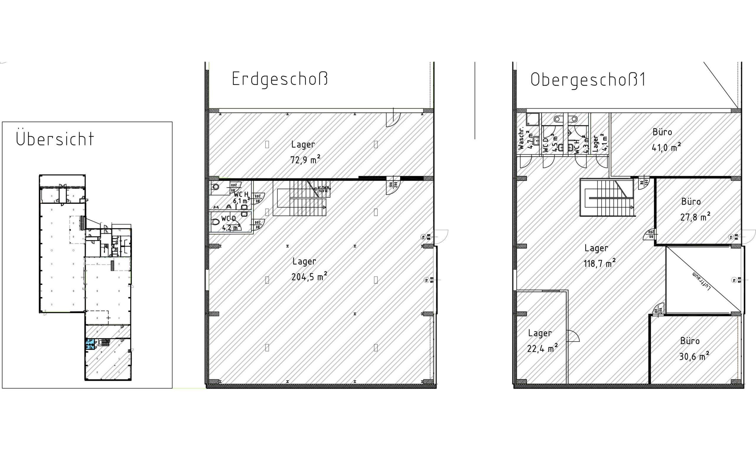 Grundrissplan Solarhalle West am Ökopark Hartberg