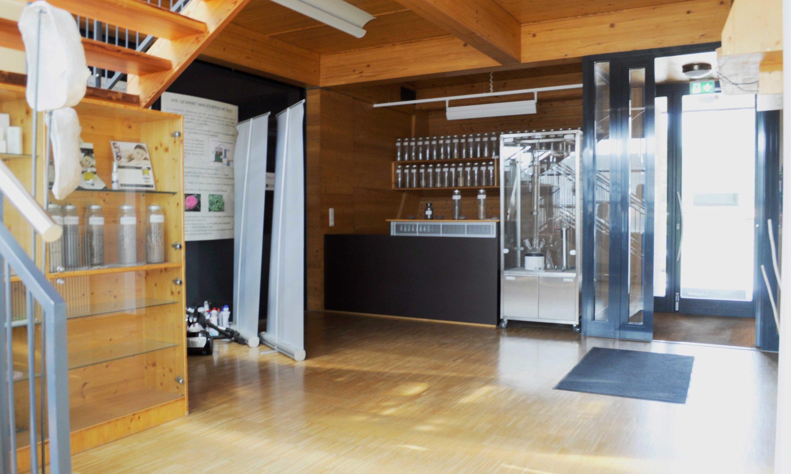 Eingangsbereich Forschungshaus am Ökopark Hartberg