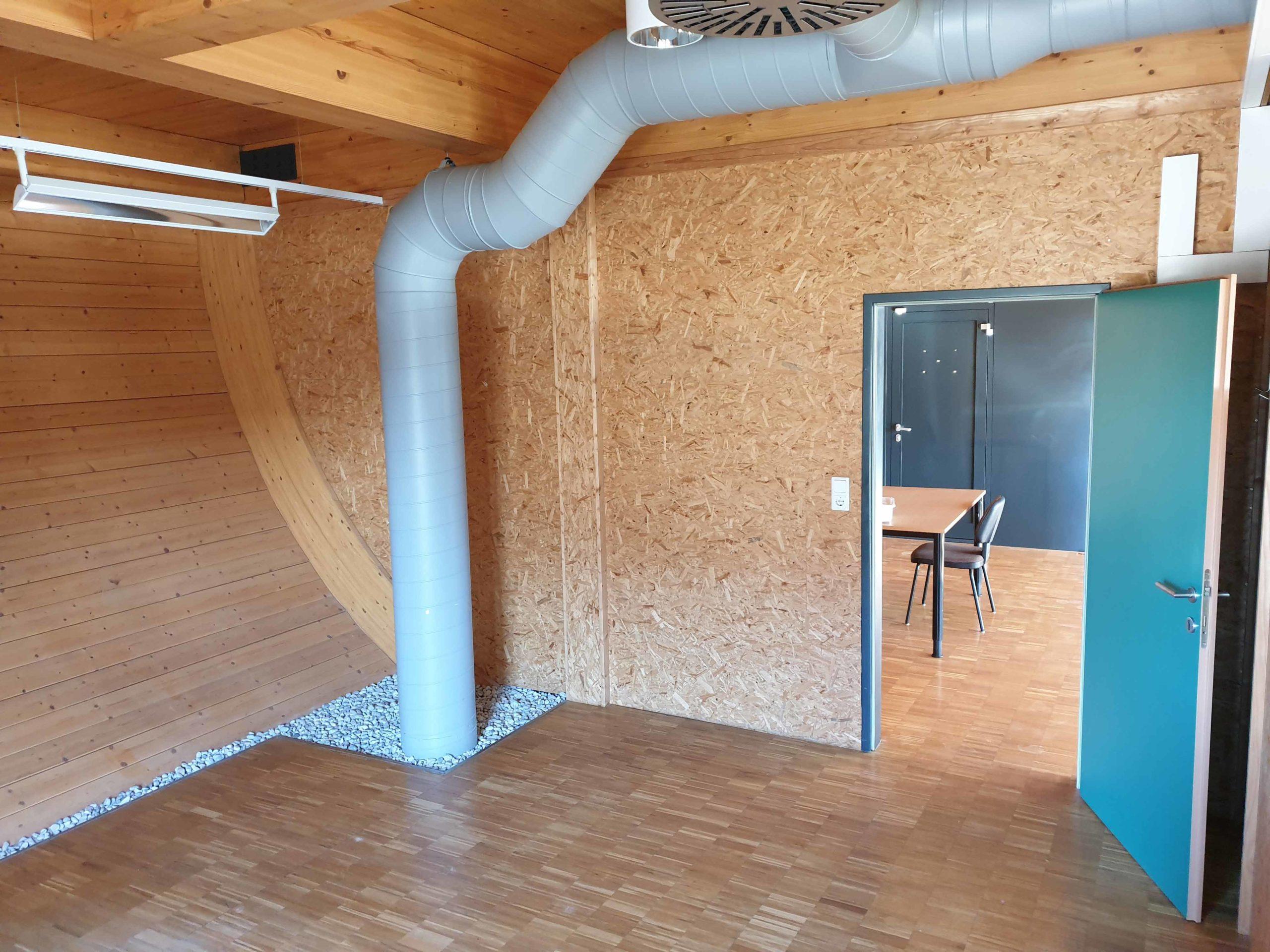 Forschungshaus Innenansicht Bürofläche