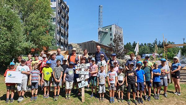 Abschlussfoto vom Minecraft for Real Camp am Oekopark Hartberg